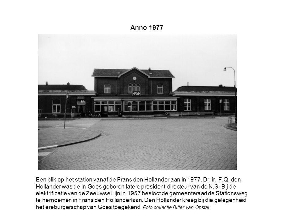 Anno 1977 Een blik op het station vanaf de Frans den Hollanderlaan in 1977.