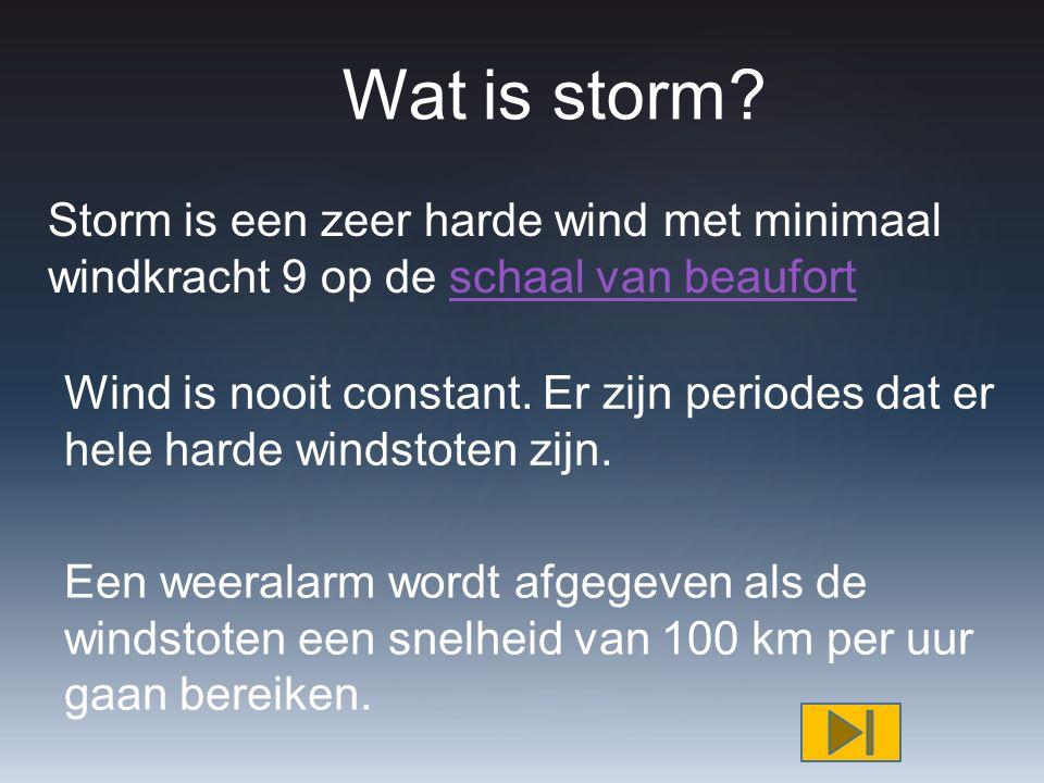 { Storm in Nederland