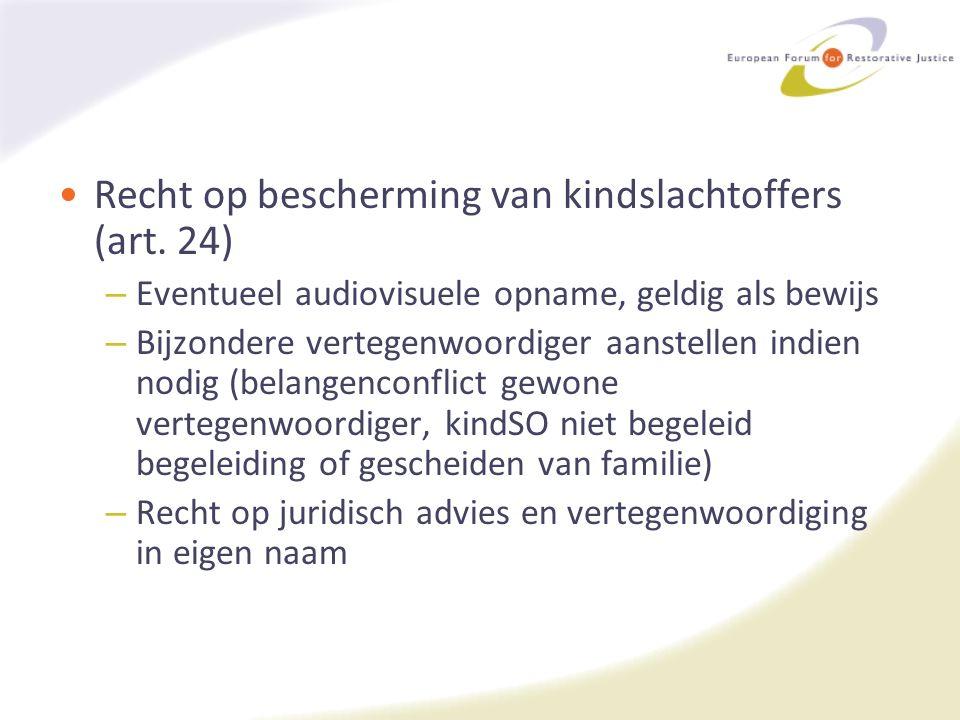 Recht op bescherming van kindslachtoffers (art.