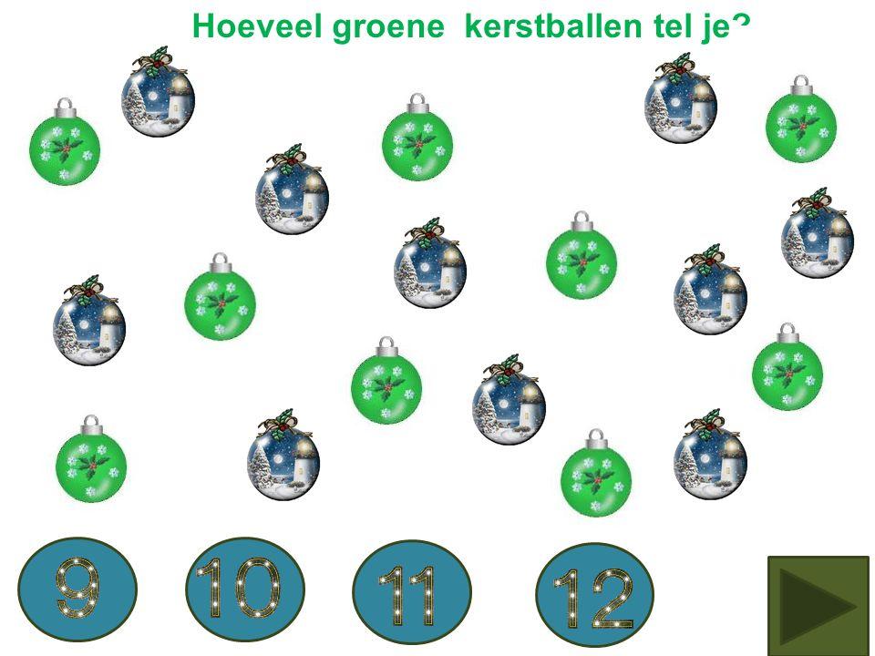 Hoeveel zilveren kerstballen zie je