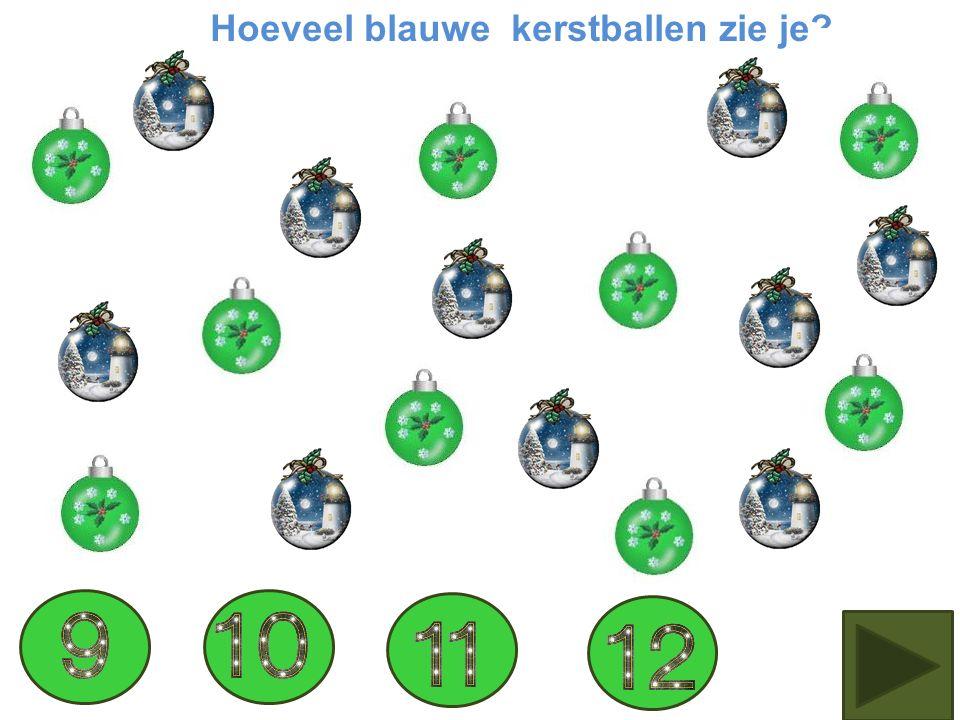 Hoeveel groene kerstballen tel je