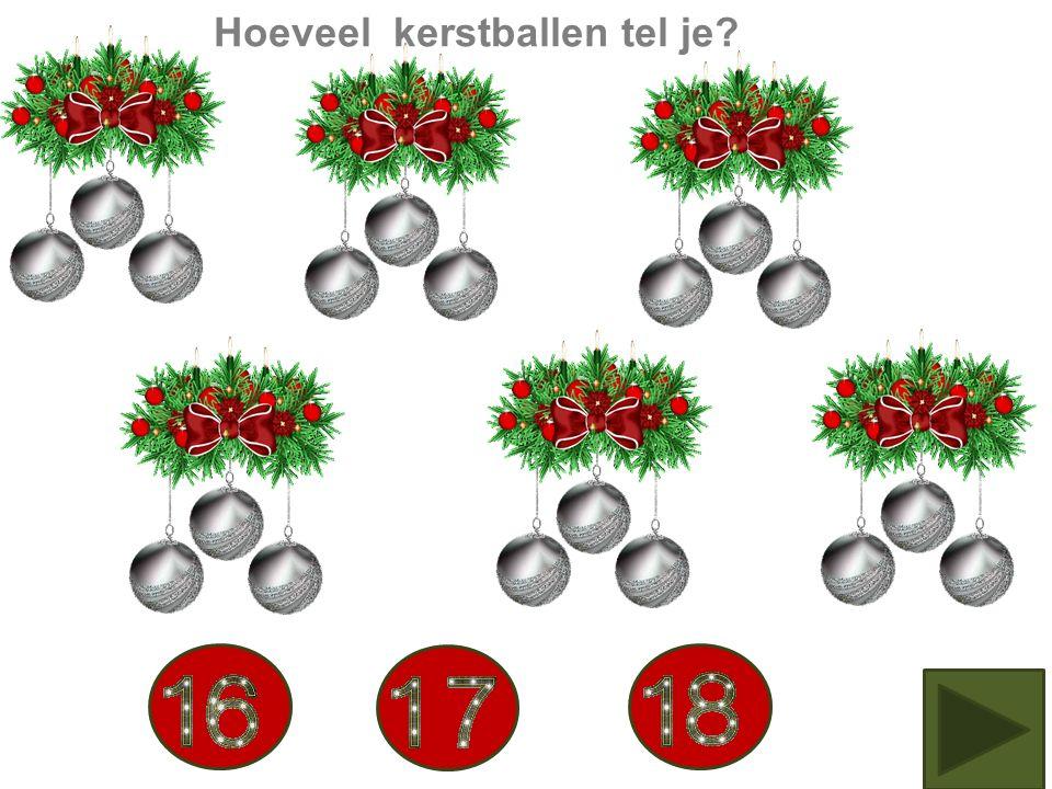 Hoeveel kerstballen tel je