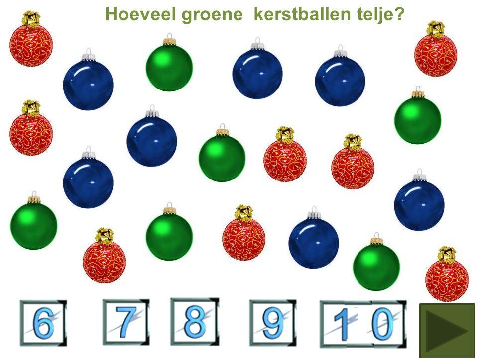 Hoeveel rode kerstballen tel je