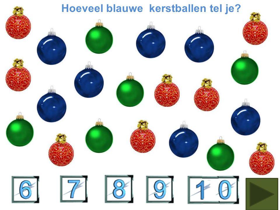 Hoeveel groene kerstballen telje