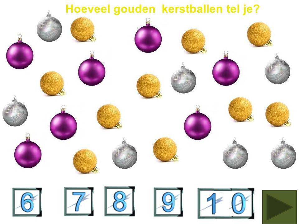 Hoeveel blauwe kerstballen tel je