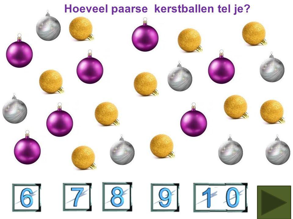 Hoeveel gouden kerstballen tel je