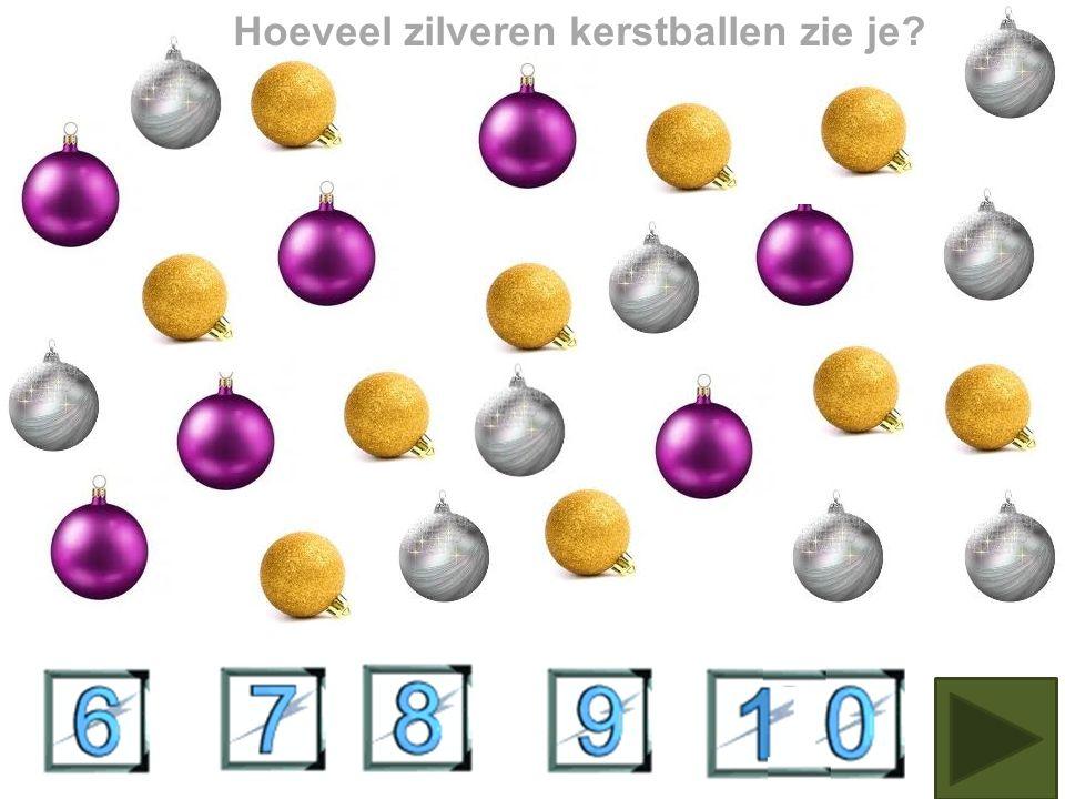 Hoeveel paarse kerstballen tel je