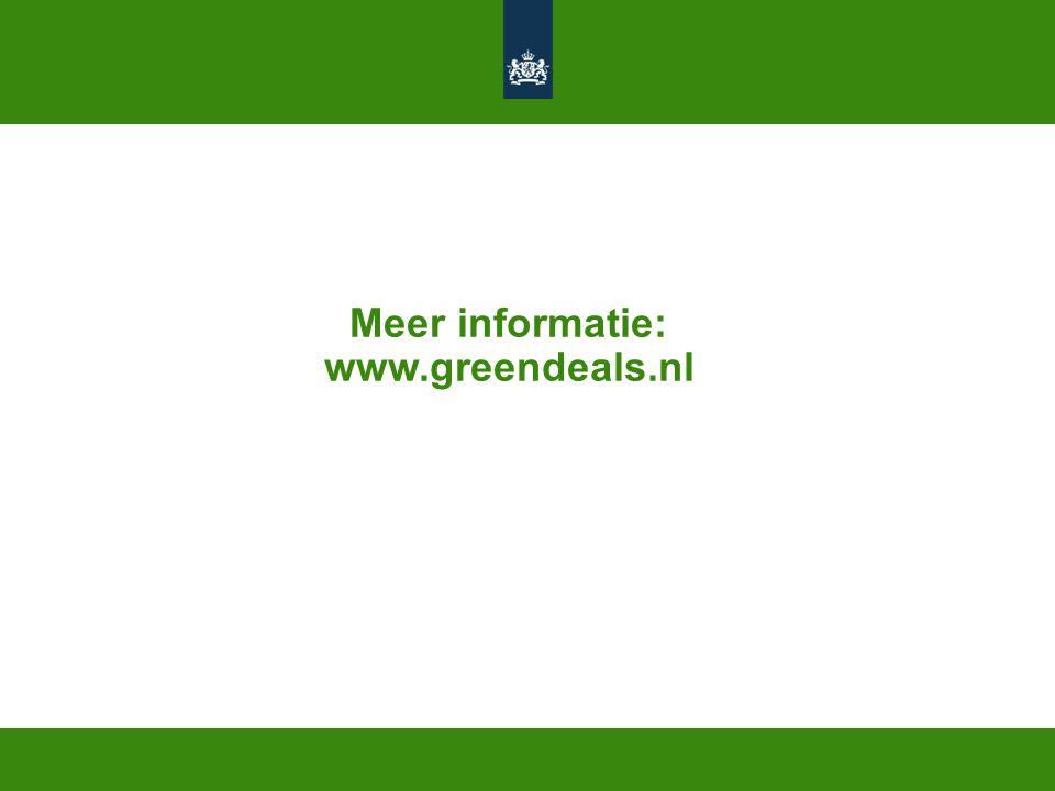 Meer informatie: www.greendeals.nl