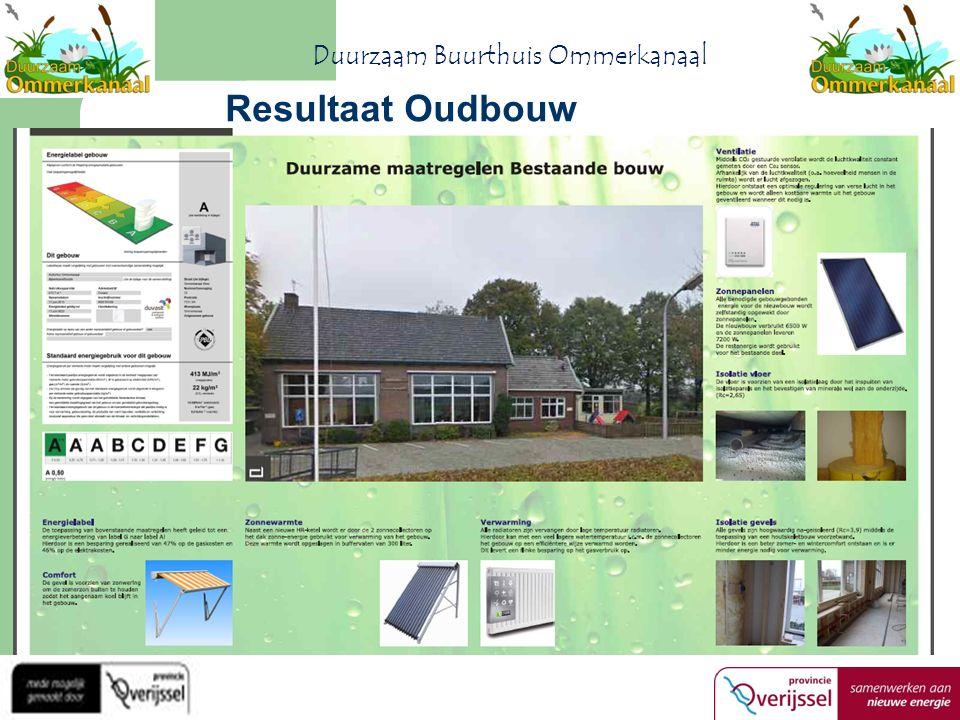 Resultaat Oudbouw Duurzaam Buurthuis Ommerkanaal
