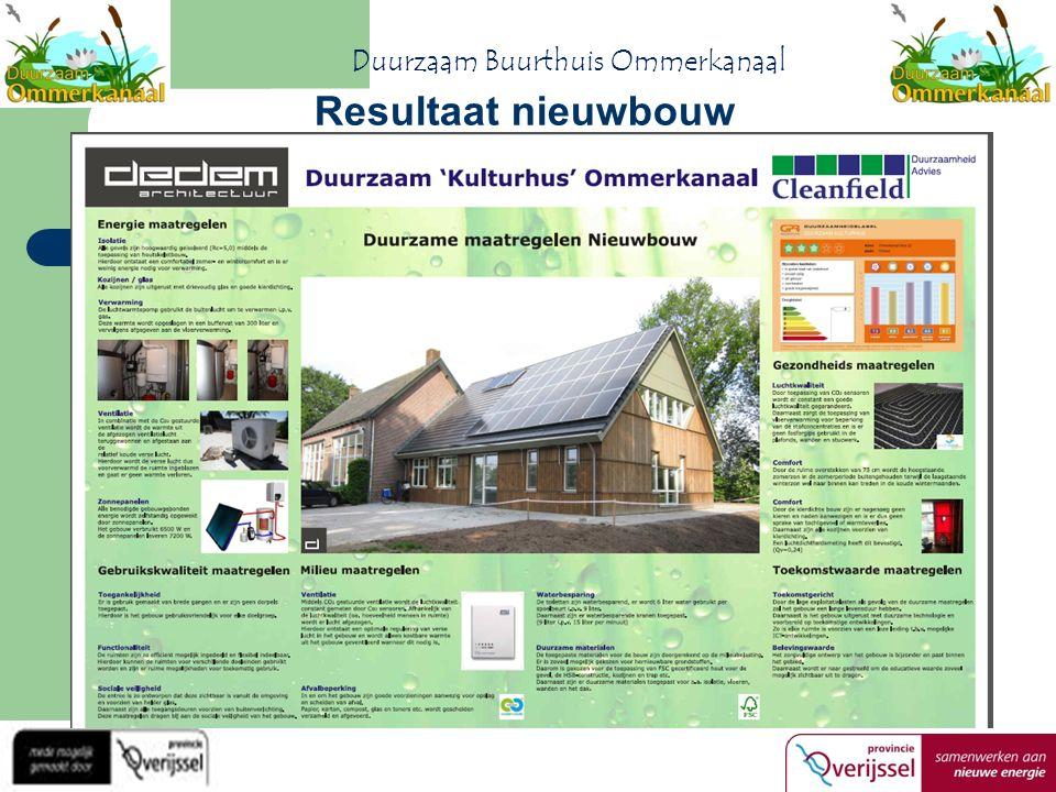 Resultaat nieuwbouw Duurzaam Buurthuis Ommerkanaal