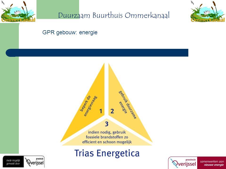 Duurzaam Buurthuis Ommerkanaal GPR gebouw: energie