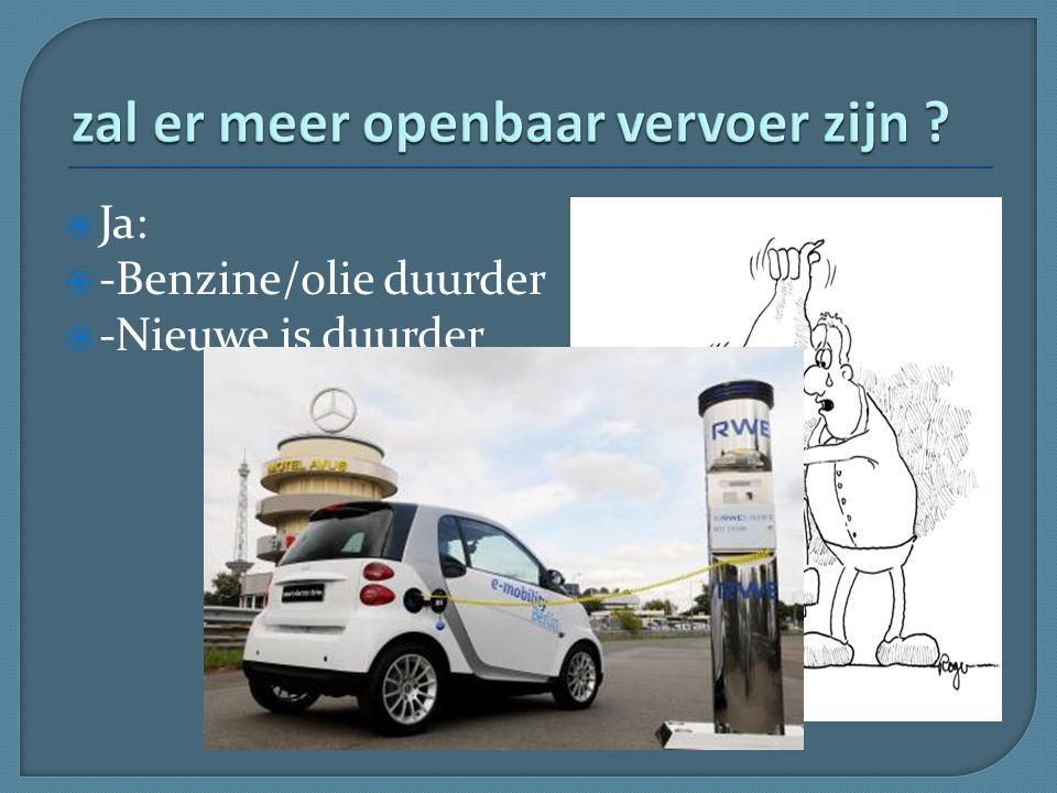  Ja:  -Benzine/olie duurder  -Nieuwe is duurder