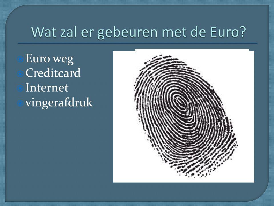  Euro weg  Creditcard  Internet  vingerafdruk