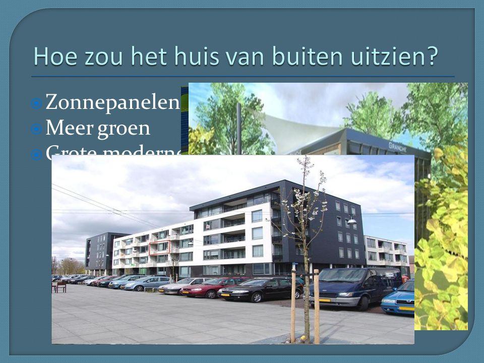  Zonnepanelen  Meer groen  Grote moderne appartementen complexen