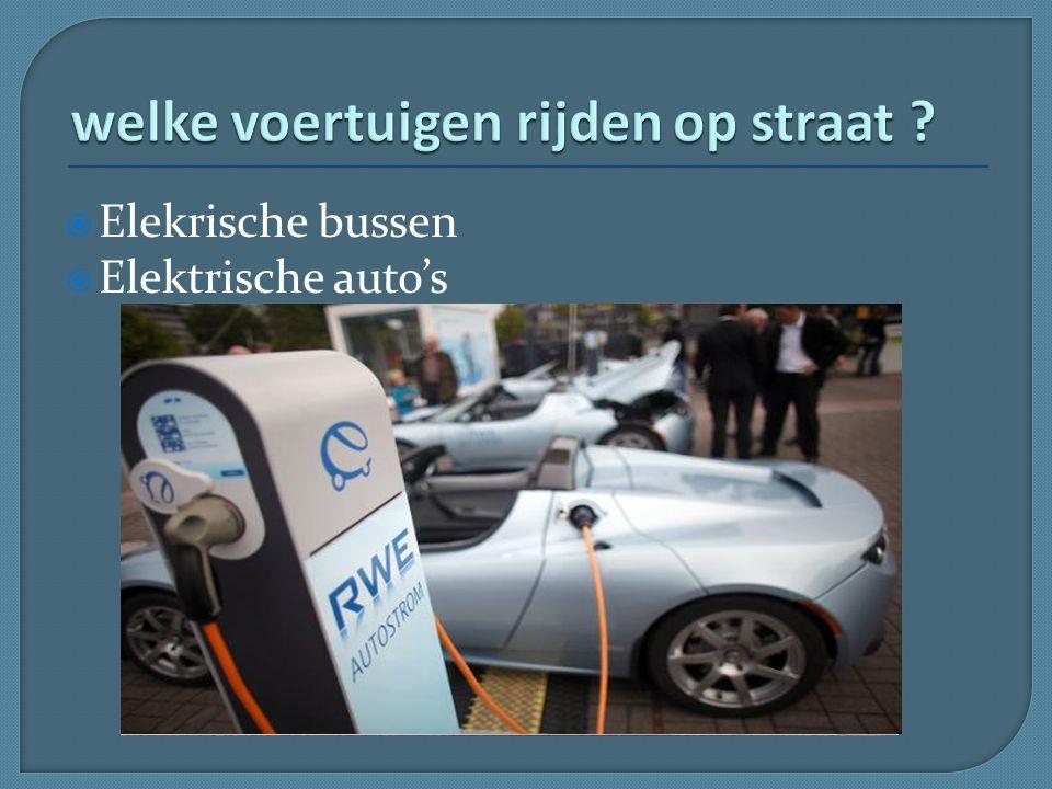  Elekrische bussen  Elektrische auto's