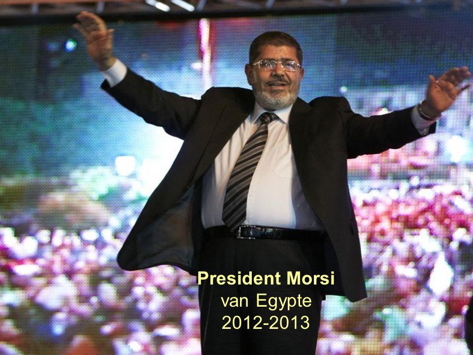 21 President Morsi van Egypte 2012-2013