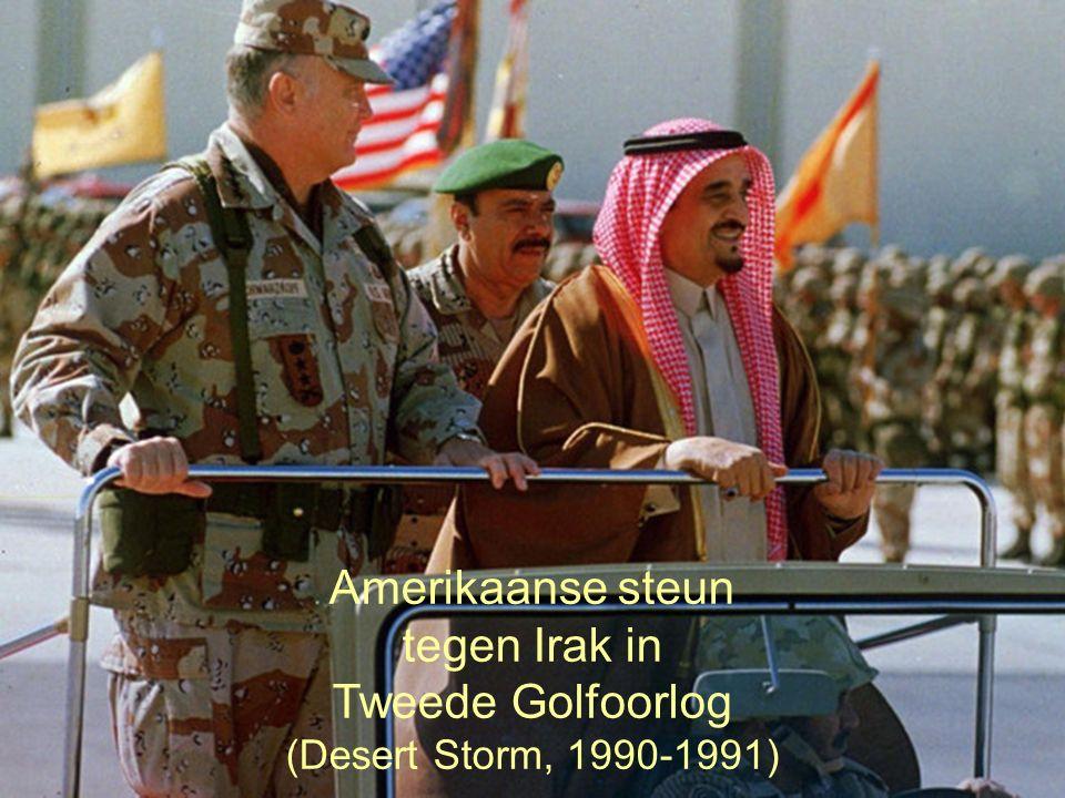 31 Amerikaanse steun tegen Irak in Tweede Golfoorlog (Desert Storm, 1990-1991)