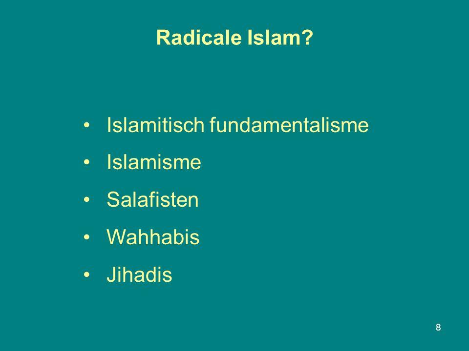 Radicale Islam 8 Islamitisch fundamentalisme Islamisme Salafisten Wahhabis Jihadis