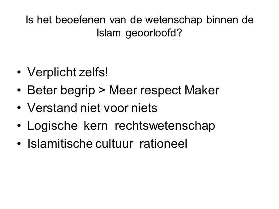 Is het beoefenen van de wetenschap binnen de Islam geoorloofd.