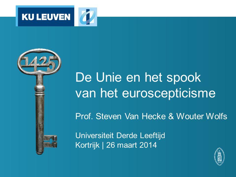 De Unie en het spook van het euroscepticisme Prof.