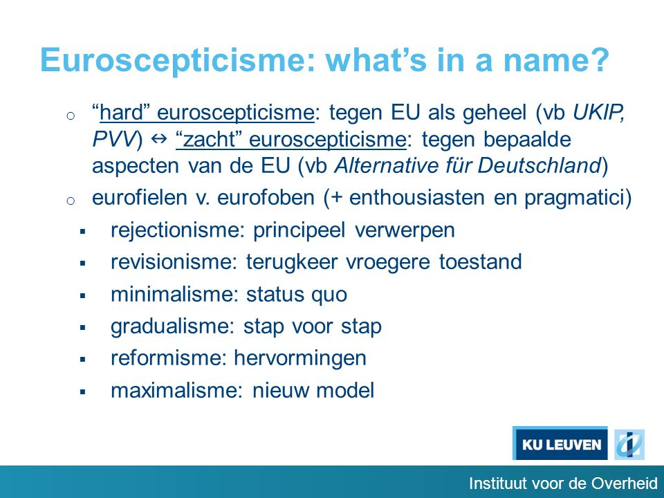 Instituut voor de Overheid Euroscepticisme: what's in a name.