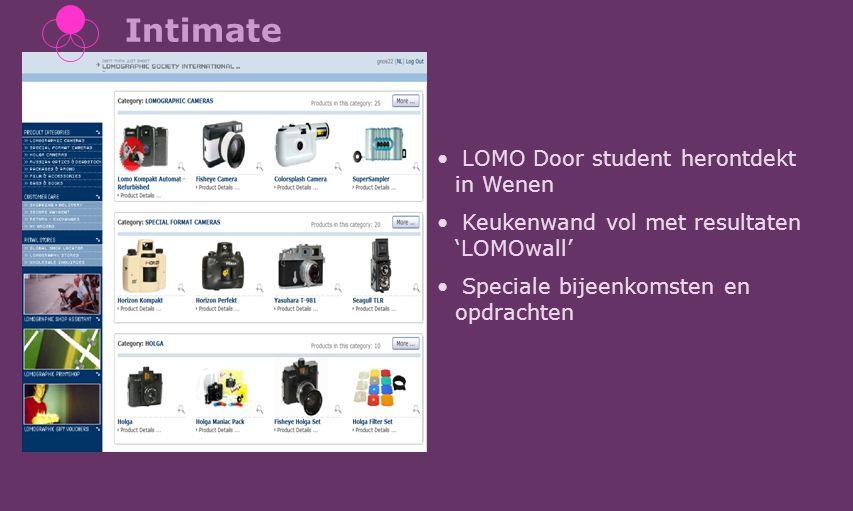 Intimate LOMO Door student herontdekt in Wenen Keukenwand vol met resultaten 'LOMOwall' Speciale bijeenkomsten en opdrachten