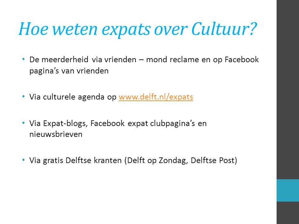 Hoe weten expats over Cultuur.