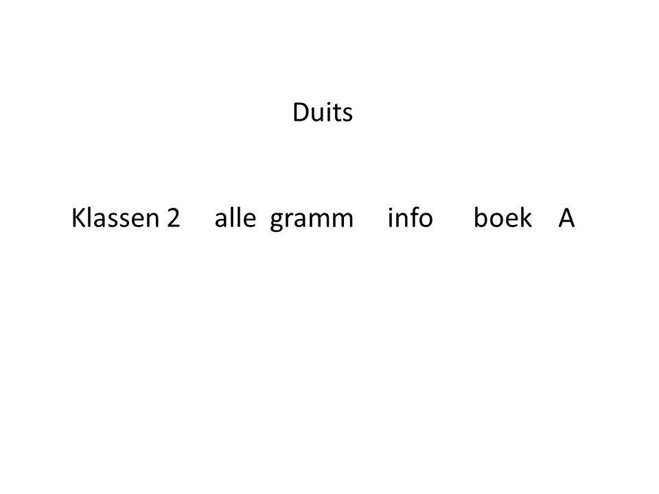 Duits Klassen 2 alle gramm info boek A