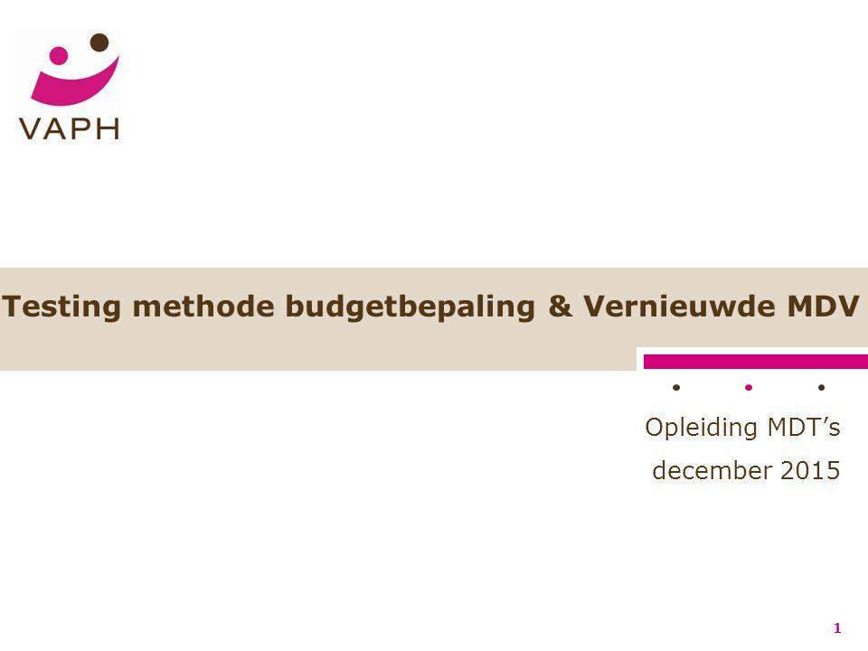 Het vernieuwde MDV Module B: Objectivering van de ON –Objectivering van de ondersteuningsnood − Gedrag –Motivering –SGZ (!) Vlaams Agentschap voor Personen met een Handicap 62