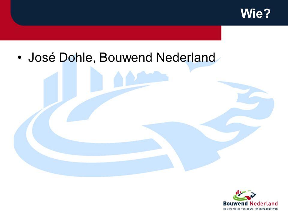 Wie José Dohle, Bouwend Nederland