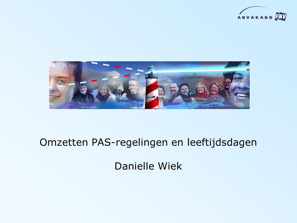 Omzetten PAS-regelingen en leeftijdsdagen Danielle Wiek