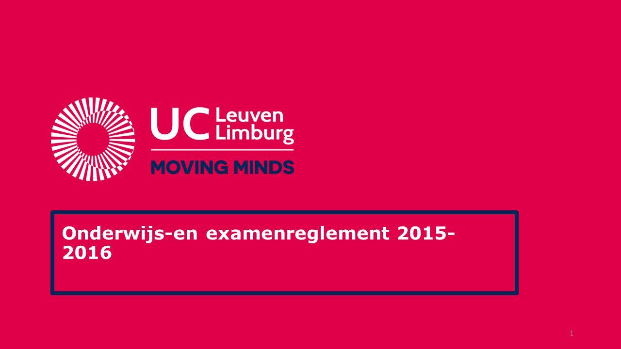 Onderwijs-en examenreglement 2015- 2016 1