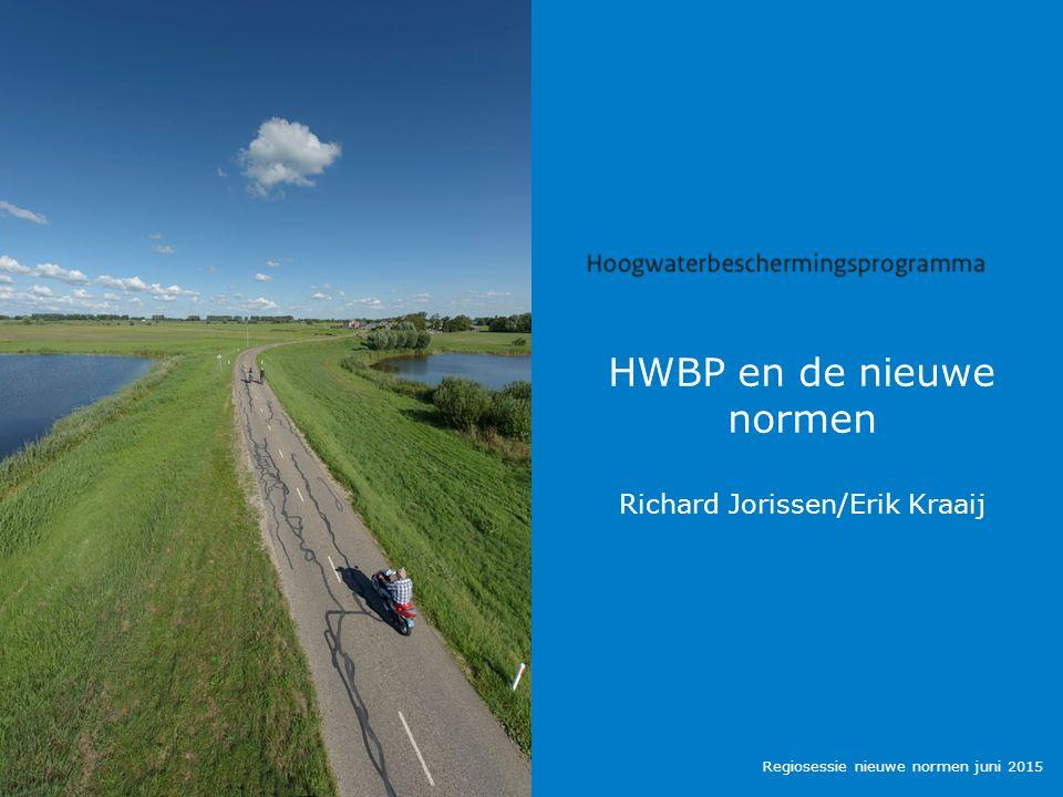 HWBP en de nieuwe normen Richard Jorissen/Erik Kraaij Regiosessie nieuwe normen juni 2015