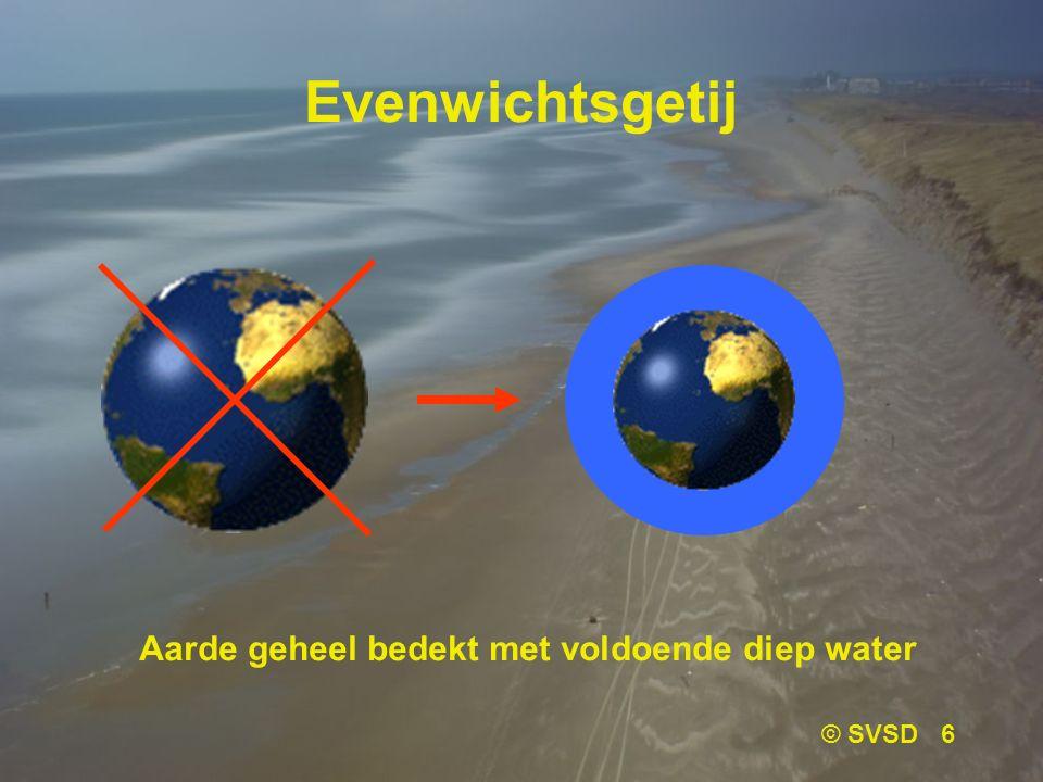 © SVSD 6 Evenwichtsgetij Aarde geheel bedekt met voldoende diep water