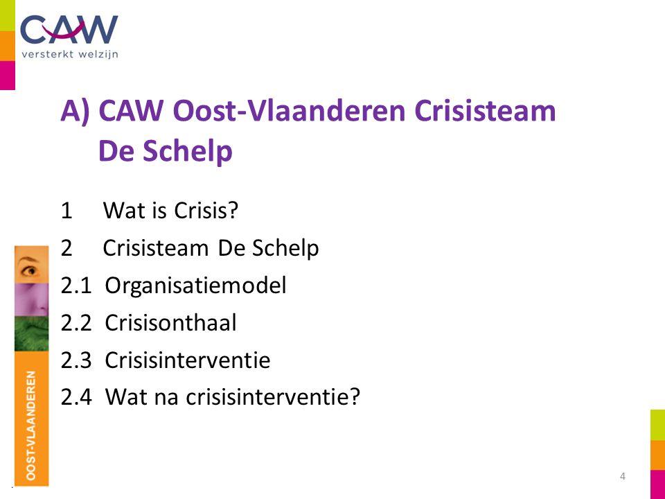 A) CAW Oost-Vlaanderen Crisisteam De Schelp 1 Wat is Crisis.