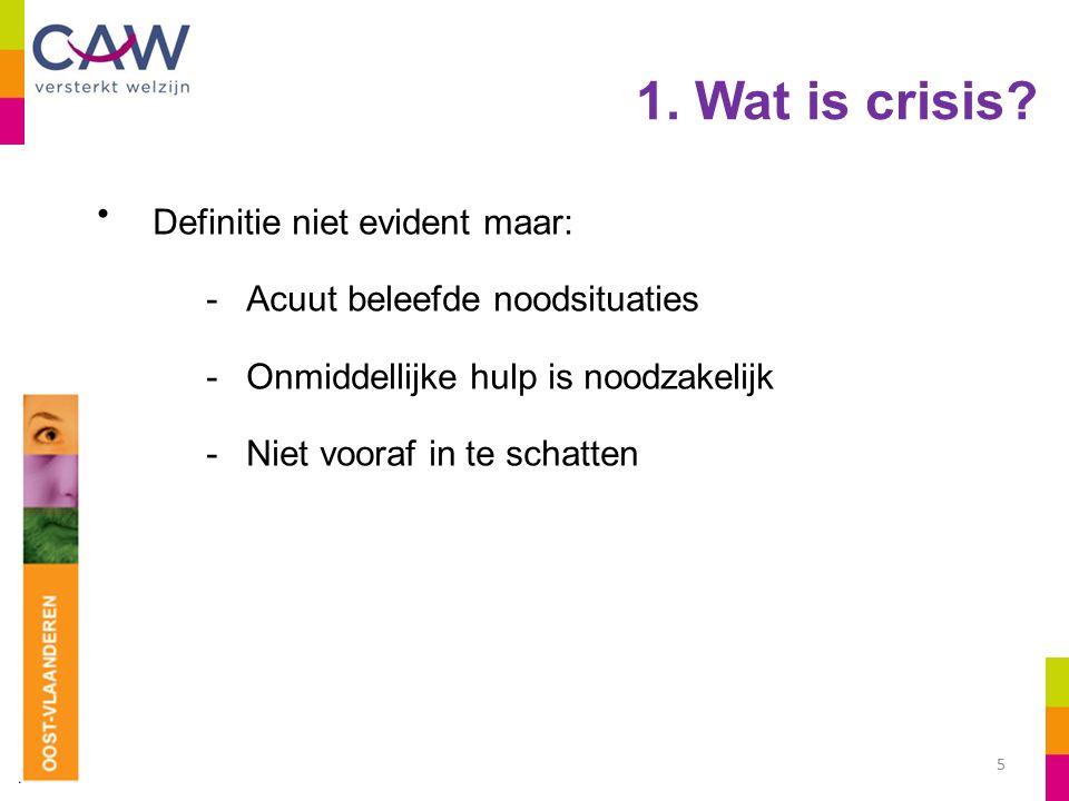 1. Wat is crisis.