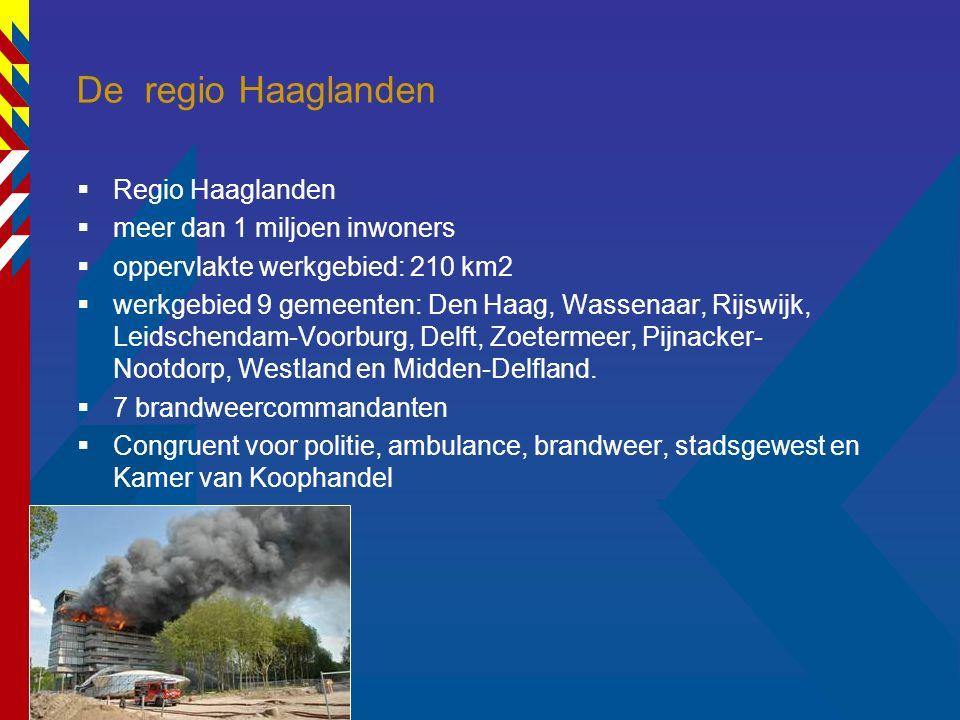16 De regio Haaglanden  Regio Haaglanden  meer dan 1 miljoen inwoners  oppervlakte werkgebied: 210 km2  werkgebied 9 gemeenten: Den Haag, Wassenaa