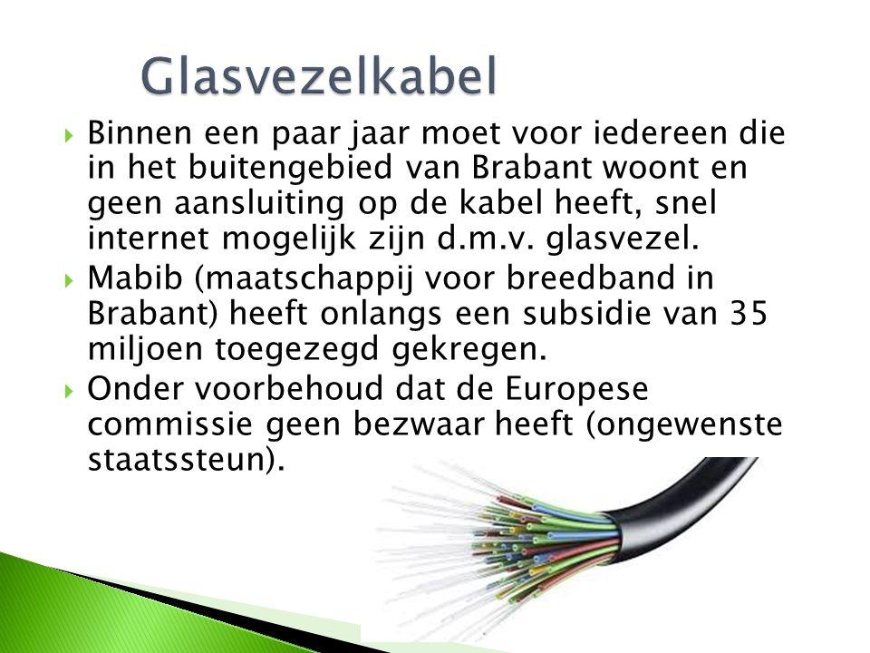  Binnen een paar jaar moet voor iedereen die in het buitengebied van Brabant woont en geen aansluiting op de kabel heeft, snel internet mogelijk zijn