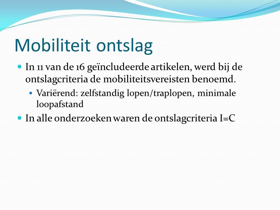 Mobiliteit ontslag In 11 van de 16 geïncludeerde artikelen, werd bij de ontslagcriteria de mobiliteitsvereisten benoemd.