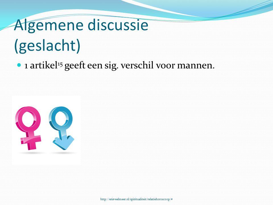 Algemene discussie (geslacht) 1 artikel 15 geeft een sig.