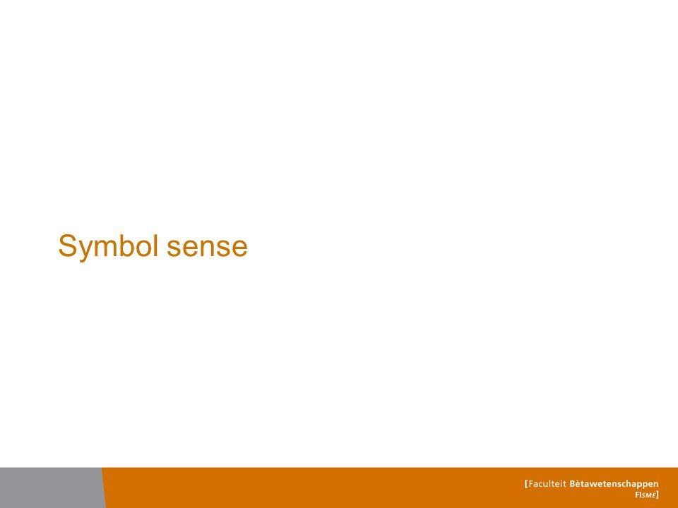 Symbol sense