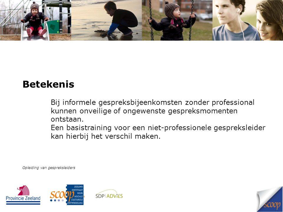 Interventie Organiseer een korte basisopleiding voor ouders die leiding geven aan een informele gesprekskring over opvoeding.