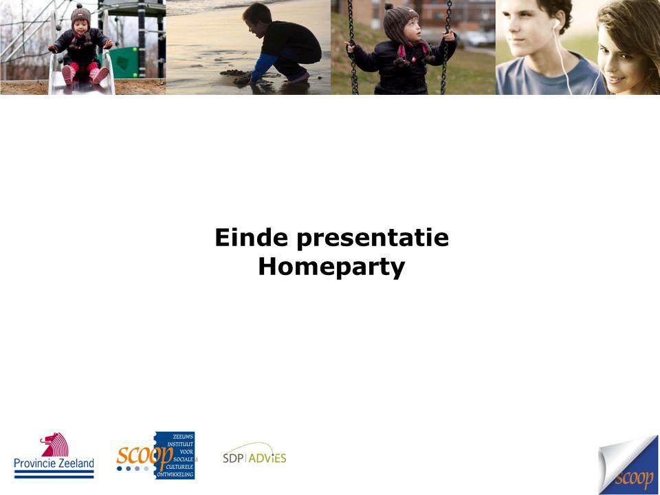 Einde presentatie Homeparty