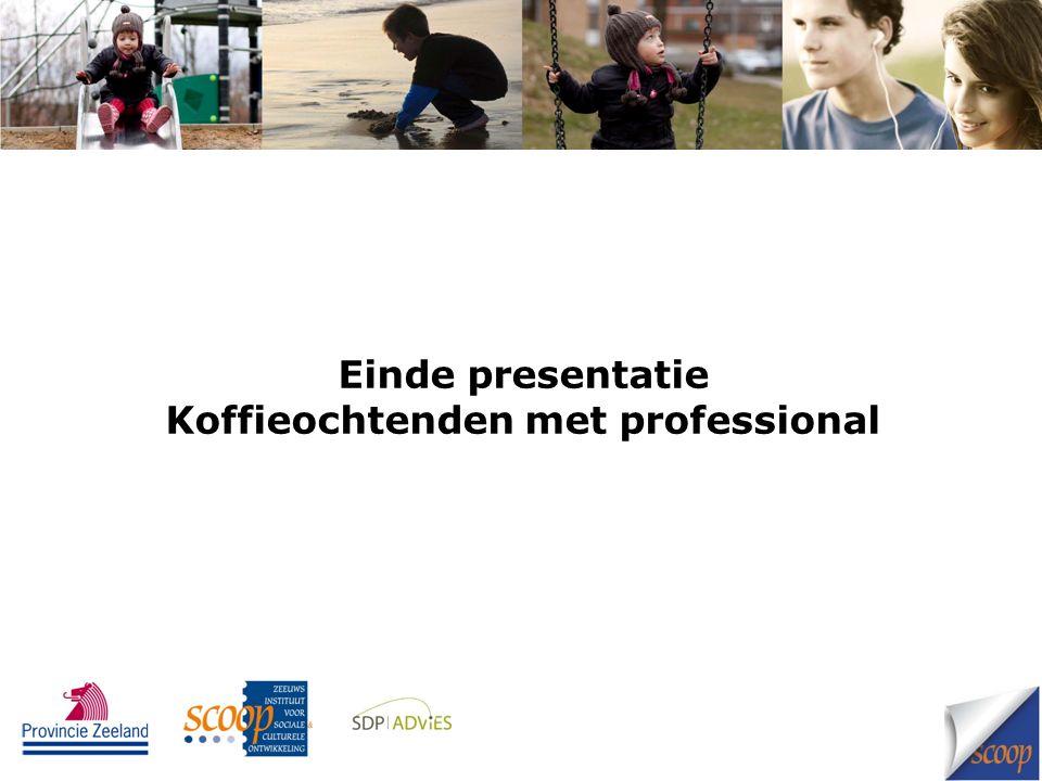 Einde presentatie Koffieochtenden met professional