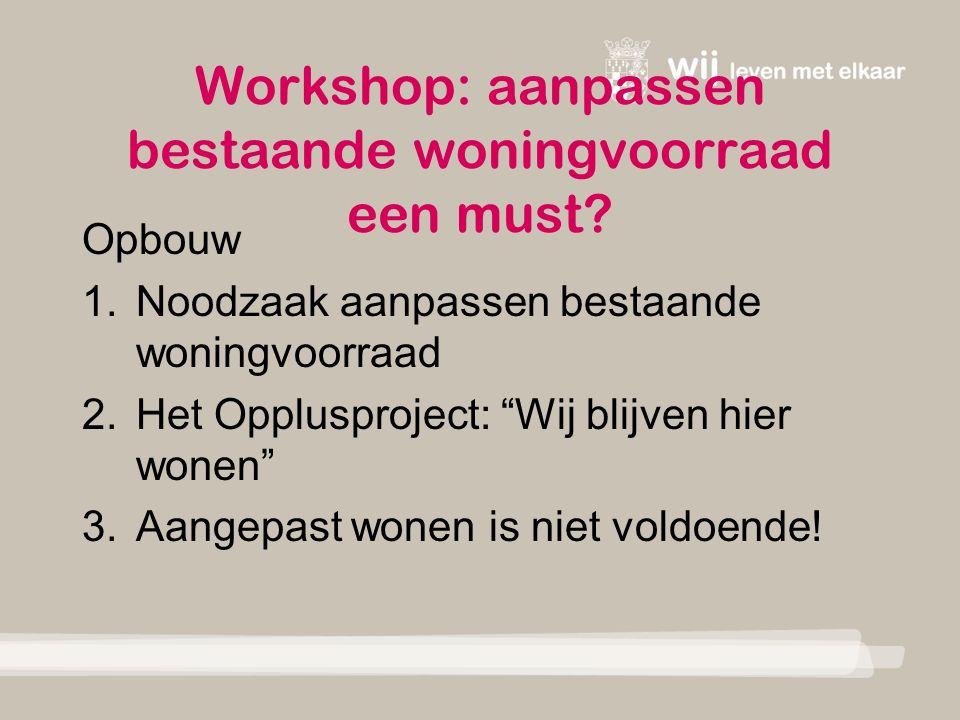 Workshop: aanpassen bestaande woningvoorraad een must.