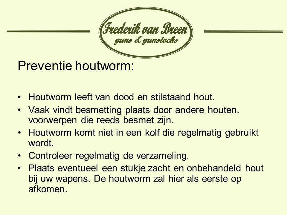 Preventie houtworm: Houtworm leeft van dood en stilstaand hout.
