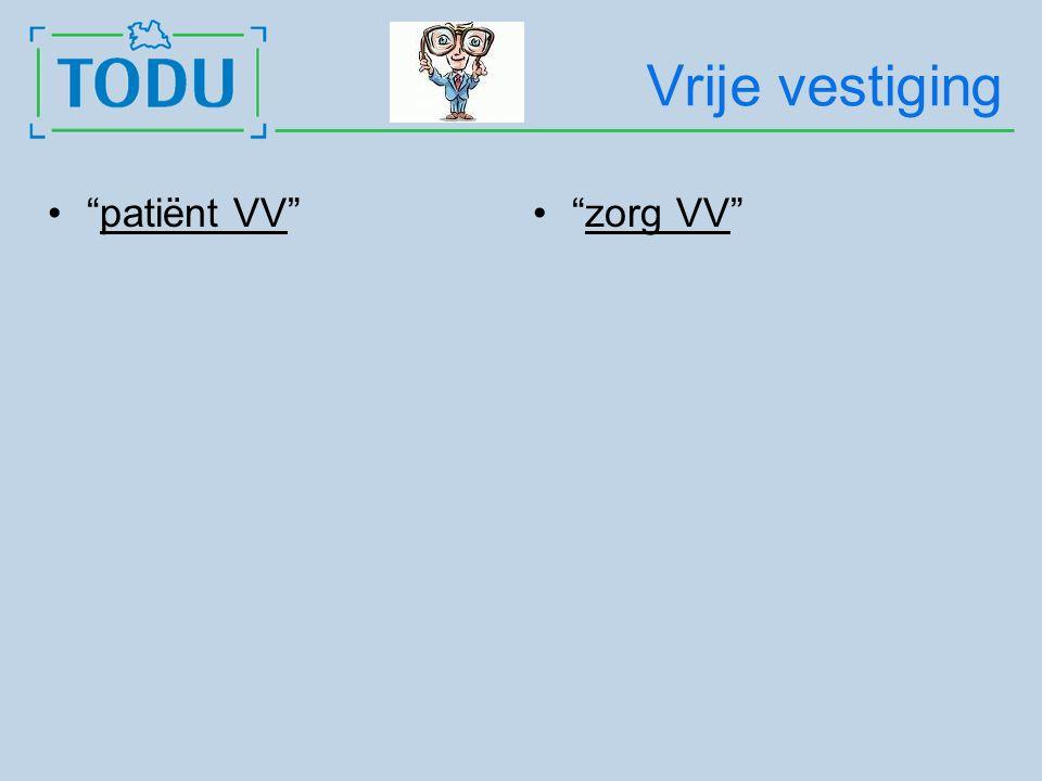 Vrije vestiging patiënt VV zorg VV