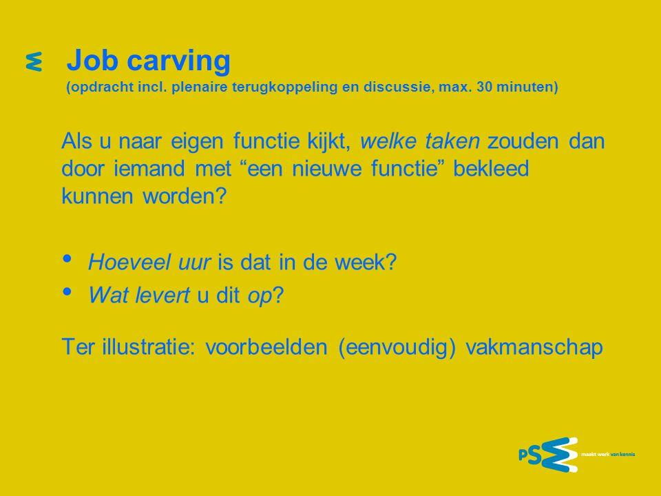 Job carving: ter overpeinzing 1.