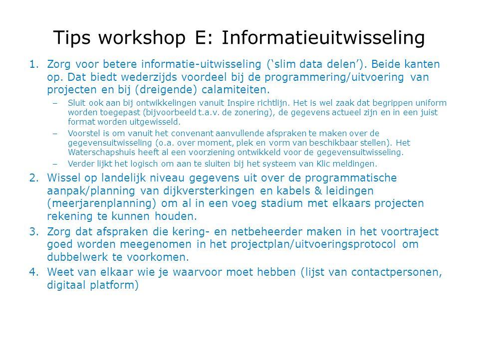 1.Zorg voor betere informatie-uitwisseling ('slim data delen').