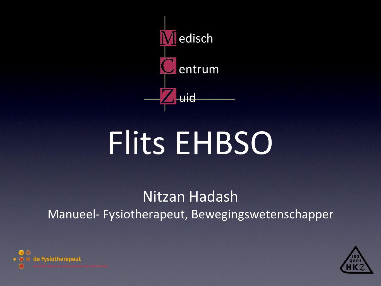 edisch entrum uid Flits EHBSO Nitzan Hadash Manueel- Fysiotherapeut, Bewegingswetenschapper